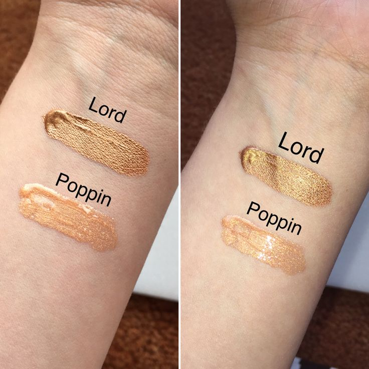 Kylie Cosmetics Birthday Edition Lord Metal & Poppin Gloss Swatches! Left…