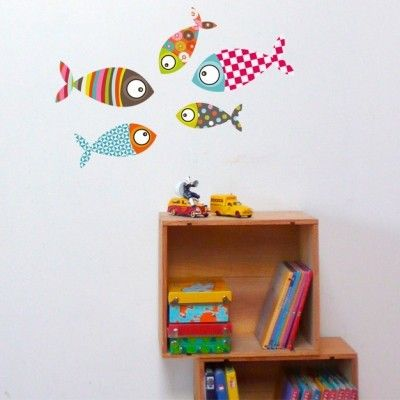 Sticker poisson 2 : Série-Golo - Berceau Magique