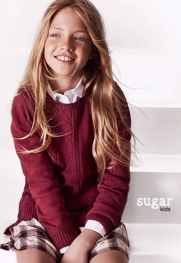 """Laura from Sugar Kids for Massimo Dutti """"Back to School"""" collection."""