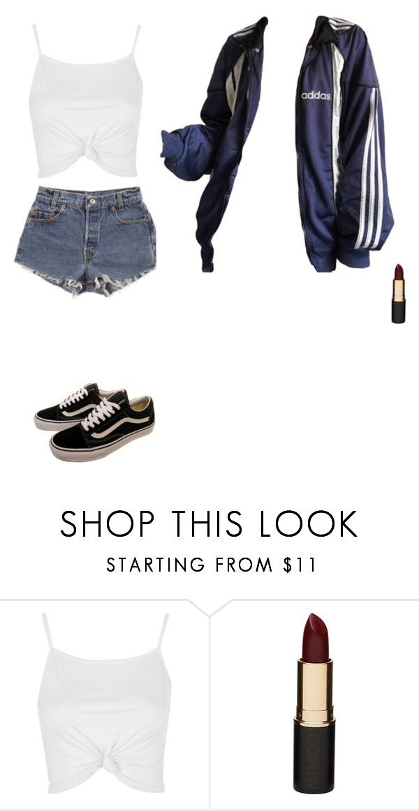 """Untitled #612"" by ericanunes on Polyvore featuring Levi's, Topshop, Mimco and Vans"