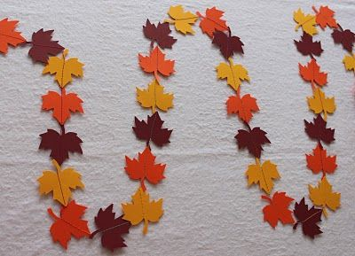 Obsessively Stitching: QUICK Fall Leaf Garland