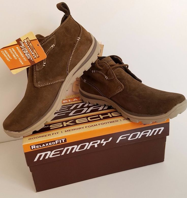 Skechers Mens Shoes Size 8 Relaxed Fit  #Skechers #Oxfords