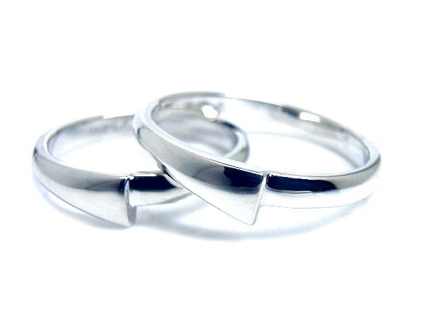 AMBRACE PT900 platinum ring stylish round プラチナ ペアリング スタイリッシュ ラウンド