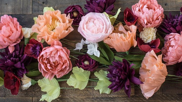 How To Make Crepe Paper Flowers Part 2