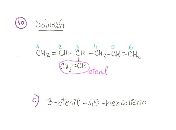 Ejercicio resuelto 10, formulación orgánica de Alquenos. Ejercicio de múltiple opción.