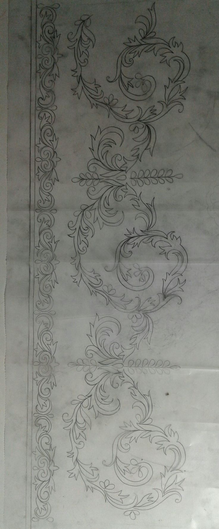 Design for embroidery or Tambour Beading