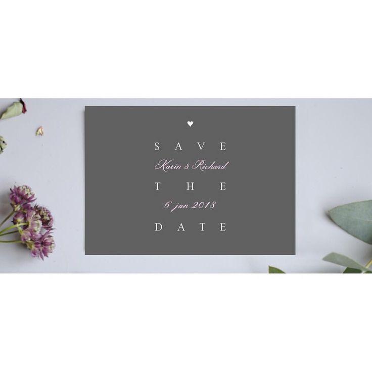 Nu finns den populära Trend-designen även som Save the date kort  #bröllop2018