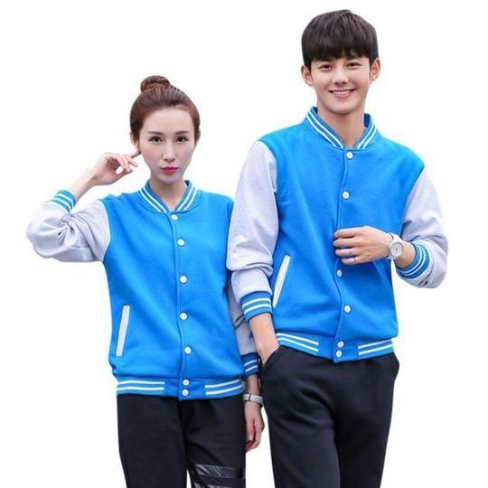 Fashion Lover Couple Long Sleeve Baseball Coat Outerwear Bomber Spring Autumn Jacket Tops JL