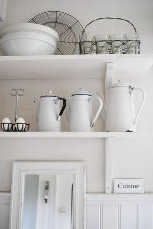 vintage decor | # kitchen #shabby #white by Francybf