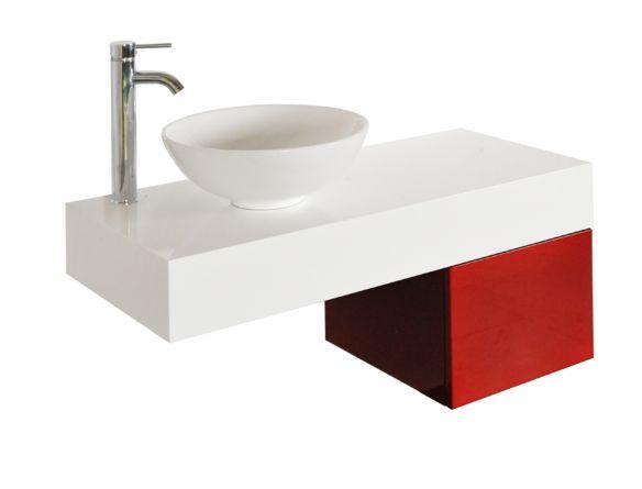 """Tiroir mural 15 x 17 pouces - Vanité 24 pouces et moins - Meubles-lavabos vanités - Mobiliers de salle de bain - Salles de bain - Produits - Bain Dépôt DESCRIPTION  Donnez une touche de modernité à votre salle de bain grâce à ce tiroir de bois rouge lustré suspendu. Doit être installé avec un dessus de bois suspendu de 39½"""". Ce tiroir est équipé du système « push to open » il est donc possible d'ouvrir le tiroir sans poignée.  49.99 15 3/4 x 17 11/16 x 11 13/16"""