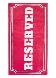 Reserved Oversized Beach Towel... hehe Yes!