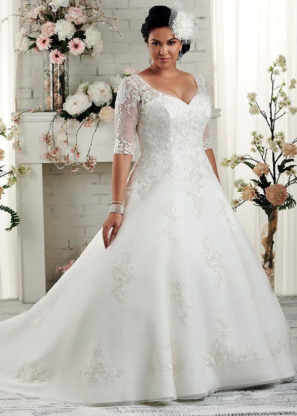 Dress style 1508 // From the 'Unforgettable' plus size collection by Bonny Bridal.