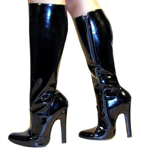 Fetish leather boots
