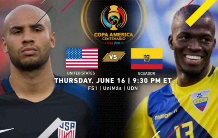 Pronóstico de apuestas deportivas Estados Unidos vs Ecuador hoy jueves 16 de junio del 2016 en la Copa América Centenario con betonline USA