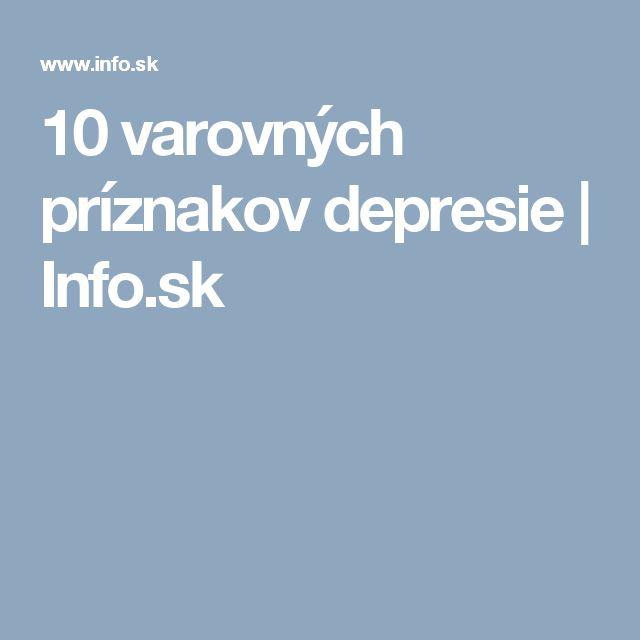10 varovných príznakov depresie | Info.sk