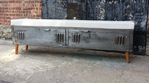 Vintage Brushed Steel Locker Storage Benches in Brooklyn, NY, USA ~ Krrb