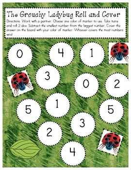 The Grouchy Ladybug Roll and Cover - Sarah Slusher - TeachersPayTeachers.com