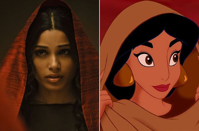 These Beautiful Actresses Really Should Be Cast in Disney Live-Action Movies  Freida Pinto as Jasmine | moviepilot.com