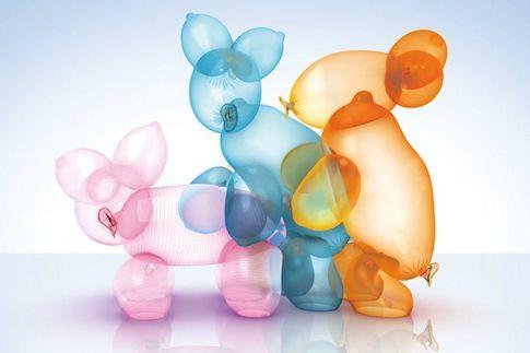 condom commercial baloon