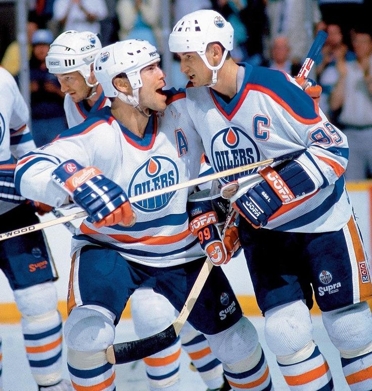 Mark Messier and Wayne Gretzky, Edmonton Oilers