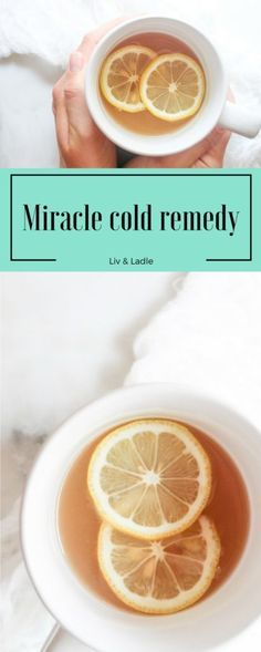 Best cold remedy ever! It actually works and taste like hot apple cider!