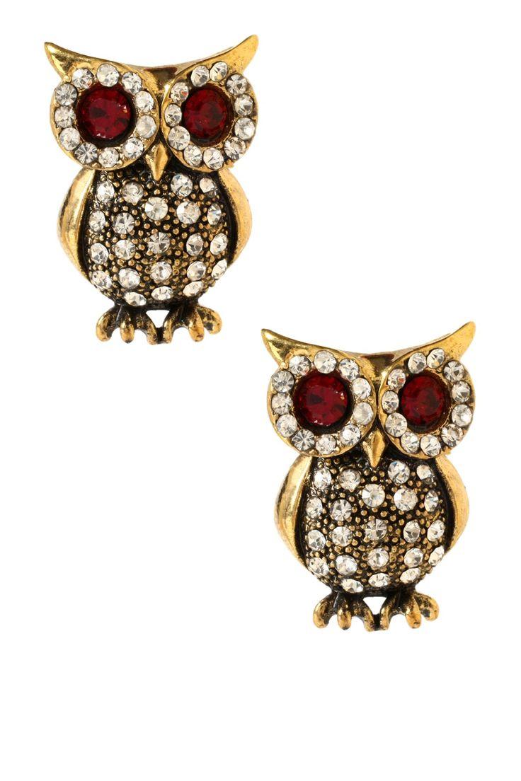 Eyeing Owl Earrings on HauteLook