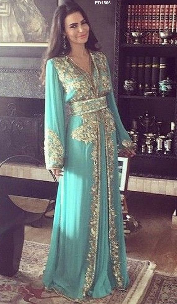2015 Latest Muslim Fashion Long Kaftan Jalabiya by Ethnicdresses