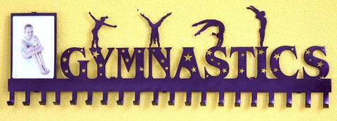 Gymnastics Medal Display: Personalized Gymnastics Medals Holder: Gymnastics Medals Hanger.....The # 1 Creator of Metal Home Wall Décor, Custom Wall Plaques, Personalized Medal Holders and Personalized Sports Trophy Shelves,