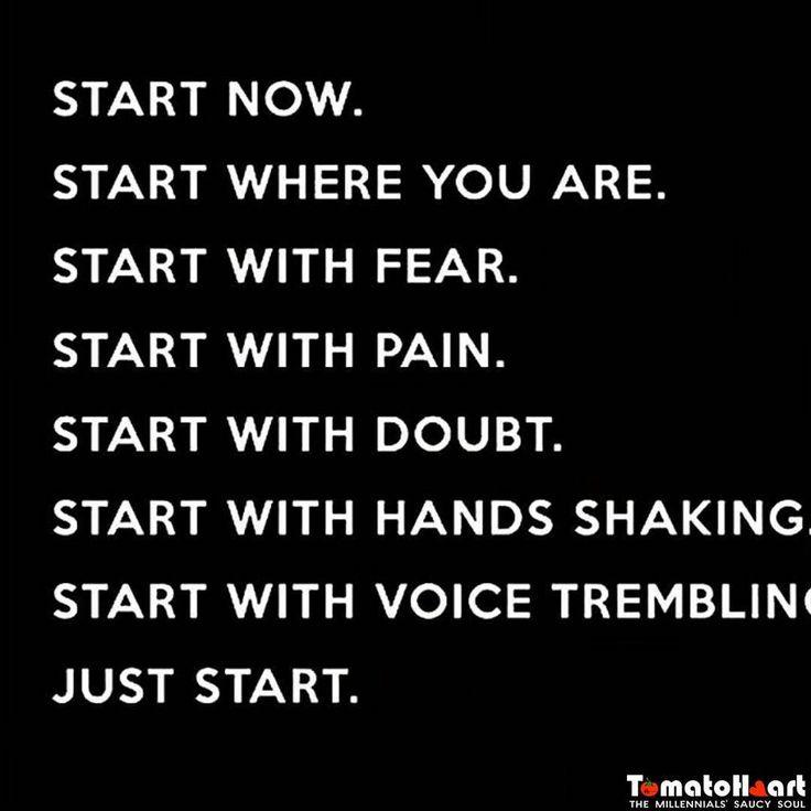 Tuesday morning motivation #tuesdaymorning #tuesdaymotivation #motivationalquotes #dontbeafraid #startnow #nowornever #justdoit #doyourbit #motivationtostart #followforlikes #followmeto #tomatoheart