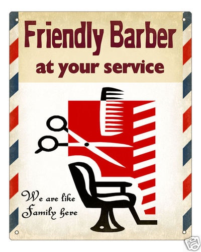 Barber Shop Sign Collectible Vintage Art Retro Plaque | eBay