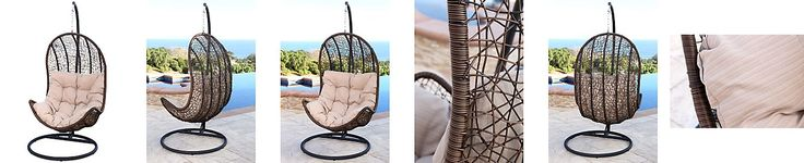 Jennifer Outdoor Wicker Egg-shaped Swing Chair, Quick Ship