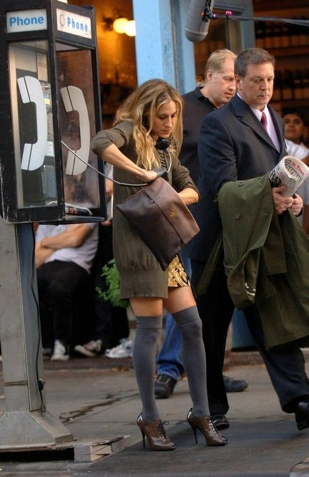 Carrie Bradshaw Grey Socks