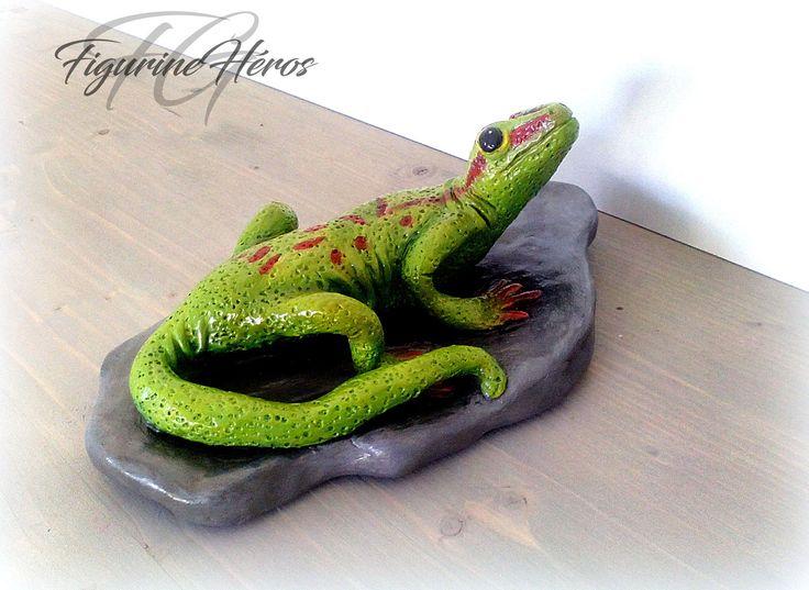 Figurine lézard Gecko En argile : Sculptures, gravures, statues par figurinesheros