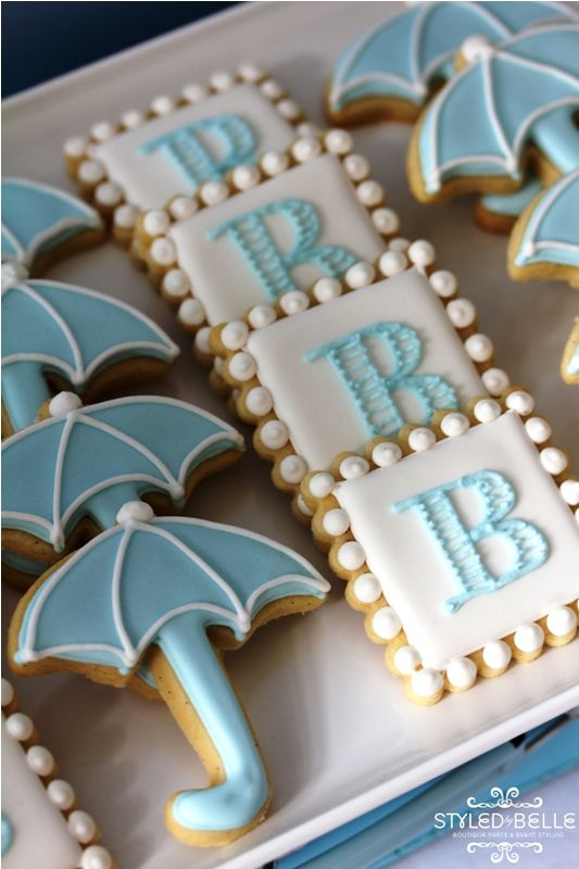 Kids Parties - monogrammed cookie