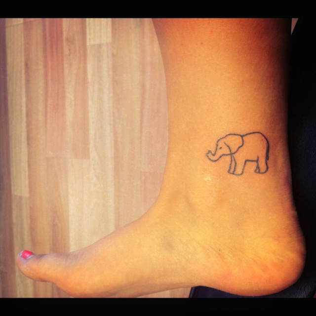 Alright elephant lovers muh new elephant tattoo - photo#35