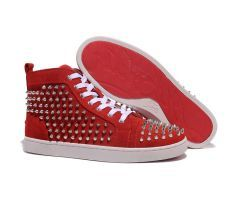 2012 Best Cheap Christian Louboutin Louis Silver Spikes High Top Nubuck Leather Mens Sneakers Red CODE: Christian Louboutin 2016 http://www.bestpricechristianlouboutin.com/2012-best-cheap-christian-louboutin-louis-silver-spikes-high-top-nubuck-leather-mens-sneakers-red.html
