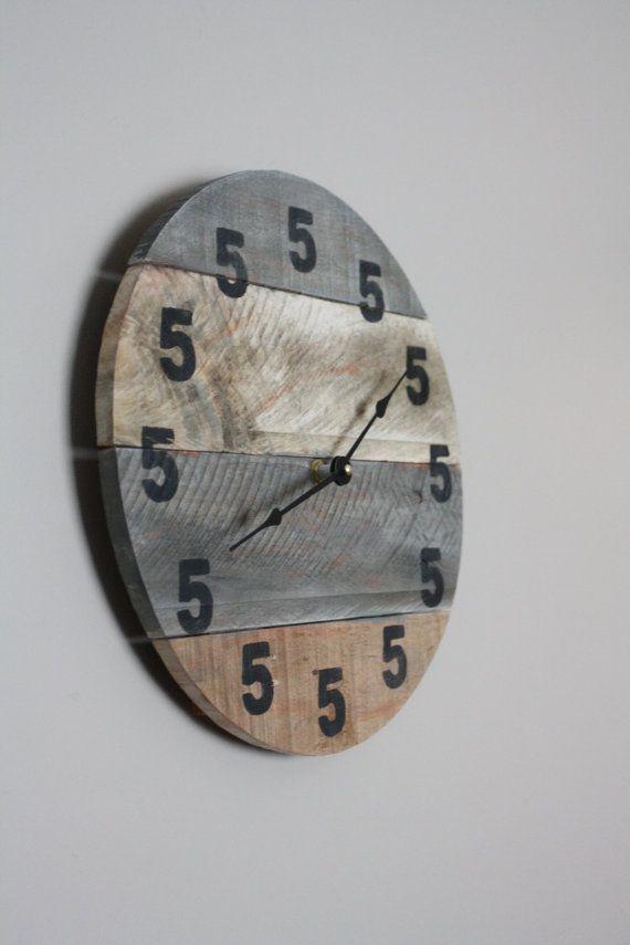 It's 5 O'Clock Somewhere Clock. Wood Clock. Round by terrafirma79