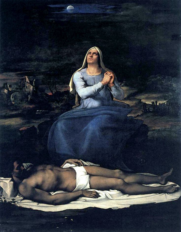 [Renaissance]] Sebastiano del Piombo Pieta' 1515 ca., Musi civici Viterbo