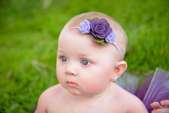 felt flower headband newborn/baby/toddler от muffintopsandtutus