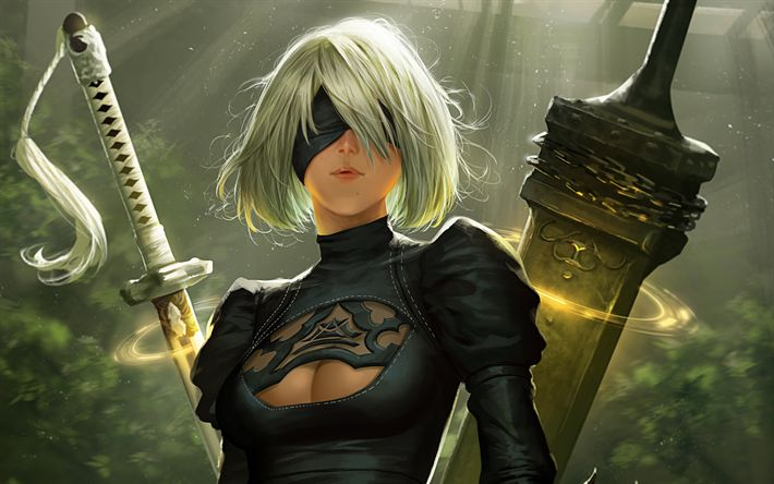 Download wallpapers NieR Automata, 2017, RPG, 4k, poster, new game, computer games