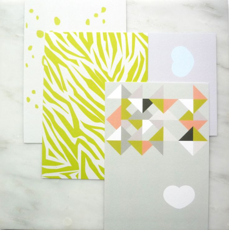 Greeting Cards • Set of 4 cards • Graphic • With envelopes by AlvisPaperMarket on Etsy