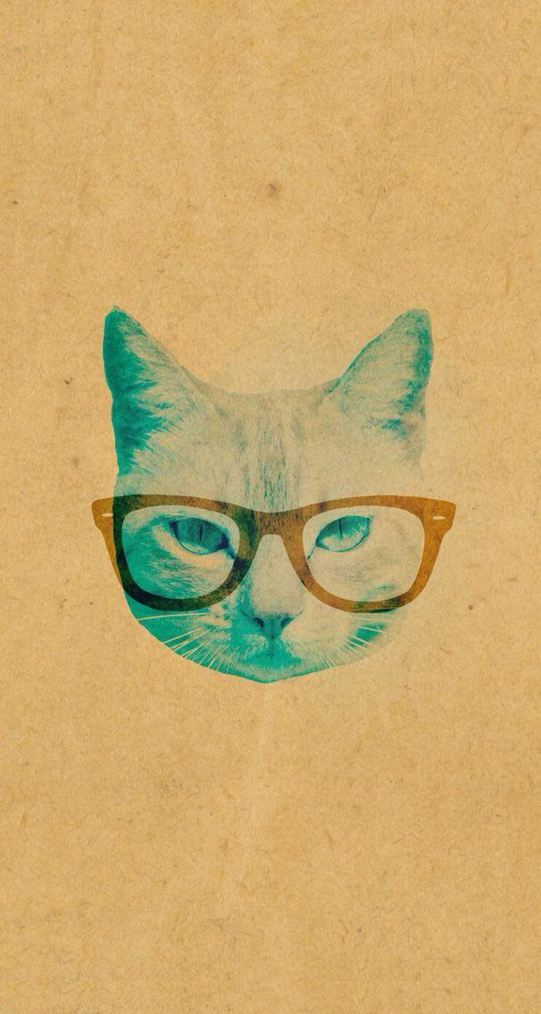 Vintage cat iPhone 5 wallpaper
