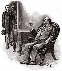 Stranger's Room Diogenes Club Sherlock Holme, Mycroft Holmes and Dr. Watson