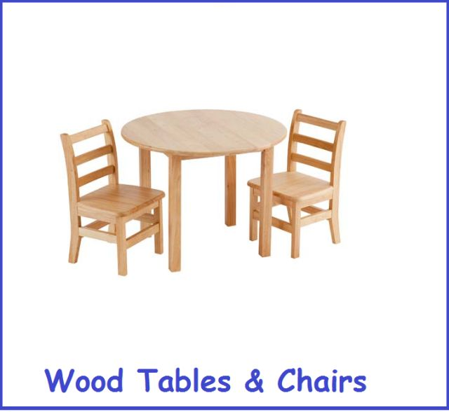 Wood Table Chair Sets Wooden Kids Furniture