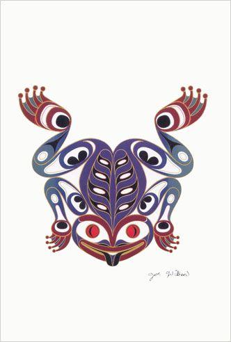 Joe Wilson Coast Salish Art Card Design The Frog | eBay