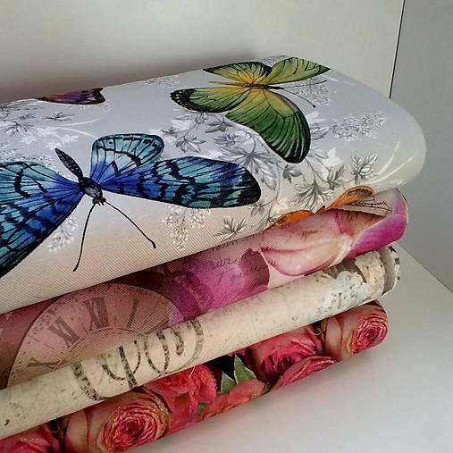 Kolekcia nádherných, vysokokvalitných Francúzskych bavlnených látok. Výnimočné sú v tom, že sú potlačené digitálnou tlačou, to znamená, že dezény sú krásne ostré ako keby ste sa pozerali na fotogra...