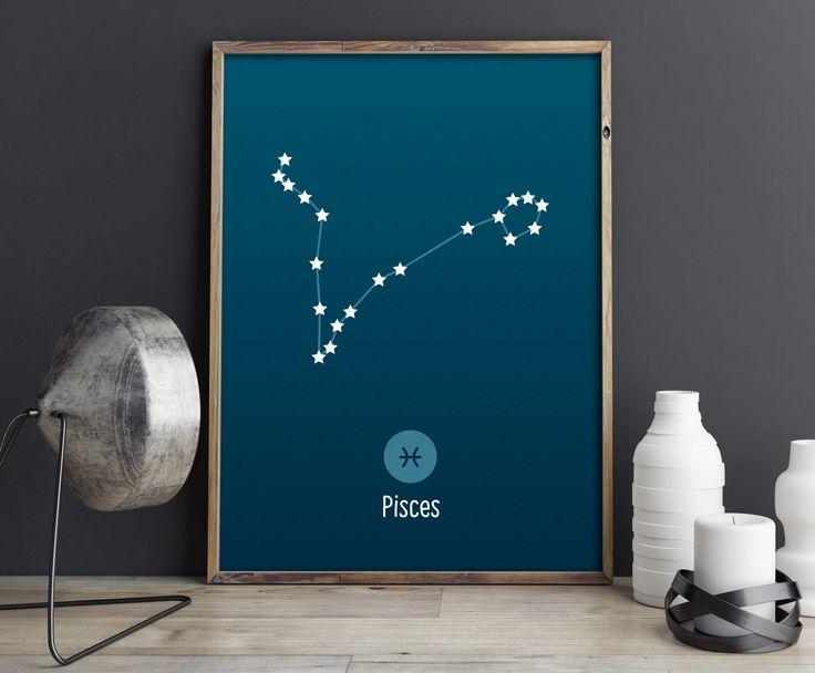 Pisces Constellation Art Print