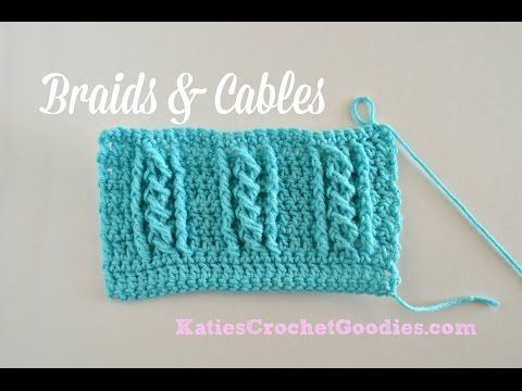 ▶ Braided Cable Crochet Stitch - YouTube | video | Pinterest | Crochet stitches, Cable and Stitch