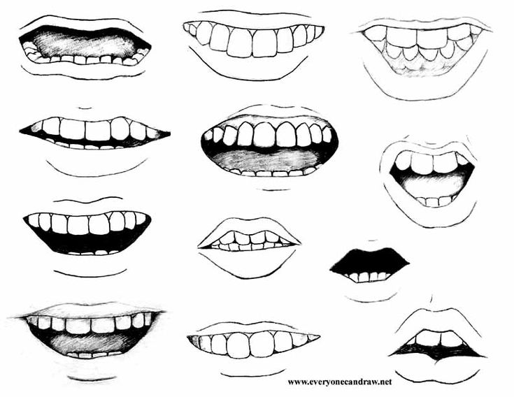 How to Draw Caricatures Noses | More difficult mouths for mix and match portraits.