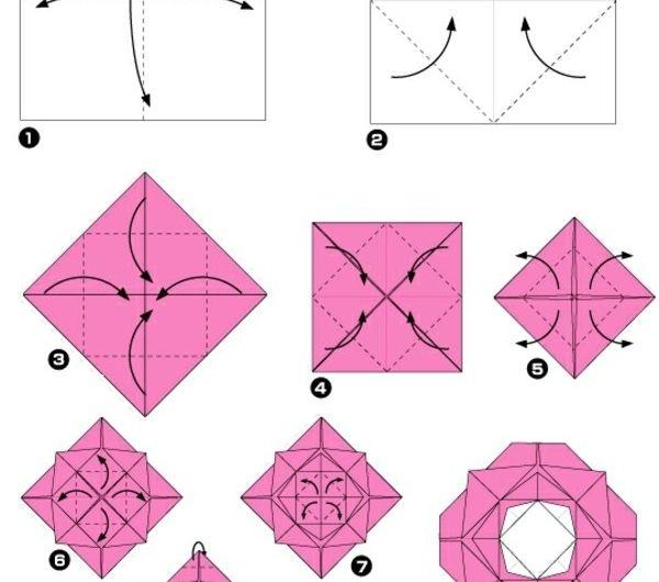 origami-facile-fleur-pliage-pour-une-rose-faire-fleurs